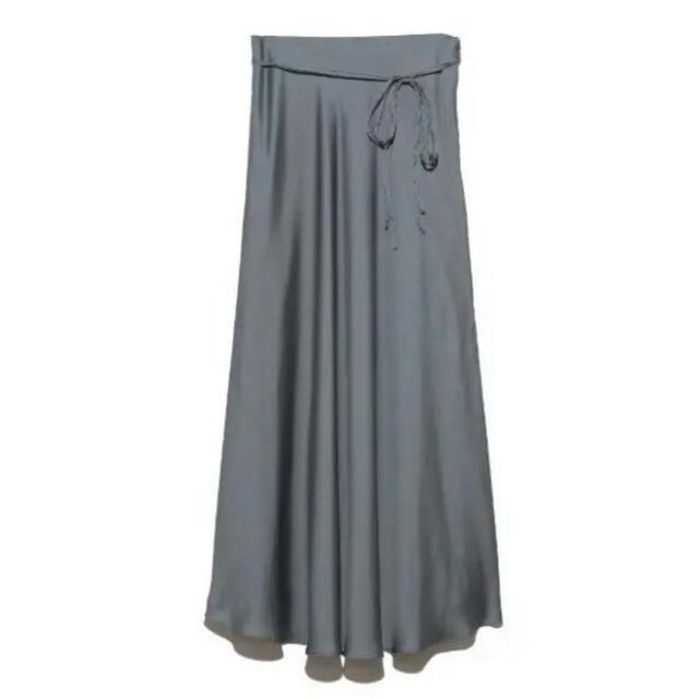 Mila Owen(ミラオーウェン)のmila owen サテンスカート レディースのスカート(ロングスカート)の商品写真
