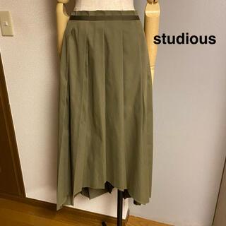 STUDIOUS - 【studious】ステュディオス アシンメトリー プリーツ ロングスカート