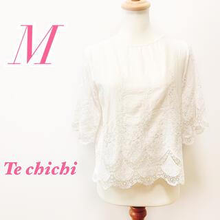 テチチ(Techichi)のTe chichi テチチ 七分袖ブラウス レース かわいいガーリー(シャツ/ブラウス(長袖/七分))