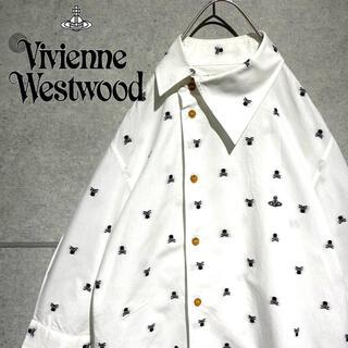 ヴィヴィアンウエストウッド(Vivienne Westwood)のヴィヴィアン ウエストウッド  ワンポイント オーブ 刺繍 7部丈 シャツ (シャツ)
