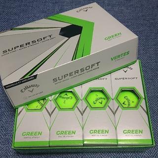 キャロウェイ(Callaway)のキャロウェイ ゴルフボール スーパーソフト グリーン マットカラー 1ダース新品(その他)