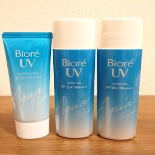 Biore - ビオレUV アクアリッチ ウォータリージェル 90ml 3本セット 新品
