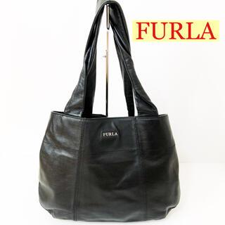 Furla - FURLA フルラ トートバッグ ソフトレザー ブラック バックリボン リボン