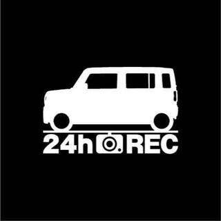 【ドラレコ】スズキ ハスラー【MR52S系】24時間 録画中 ステッカー