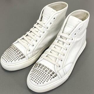 グッチ(Gucci)の☆美品☆GUCCI スタッズ 25cm ハイカットスニーカー メンズ 靴(スニーカー)