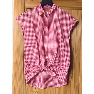 ドアーズ(DOORS / URBAN RESEARCH)のアーバンリサーチドアーズ ピンクチェックシャツ(シャツ/ブラウス(半袖/袖なし))