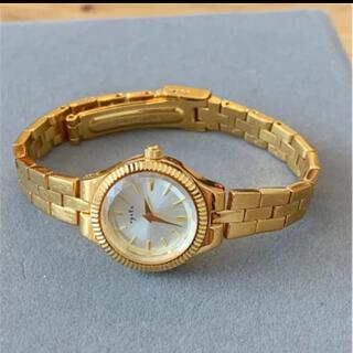 agete - アガット 一粒ダイヤ 腕時計 ゴールド