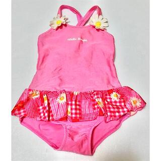 ミキハウス(mikihouse)の★MIKI HOUSE ミキハウス★キッズ★水着 110★可愛い花柄★ピンク★(水着)
