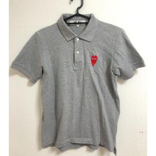 コムデギャルソン(COMME des GARCONS)のコムデギャルソン PLAYポロシャツグレー 半袖ポロシャツPOLO(Tシャツ/カットソー(半袖/袖なし))