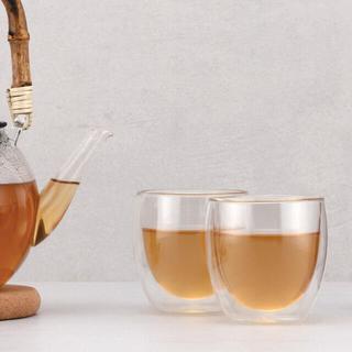 ボダム(bodum)のbodum pavina ダブルウォールグラス 2個セット(グラス/カップ)