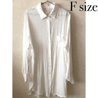 GRL - シアー ロングシャツ グレイル GRL オフホワイト フリーサイズ