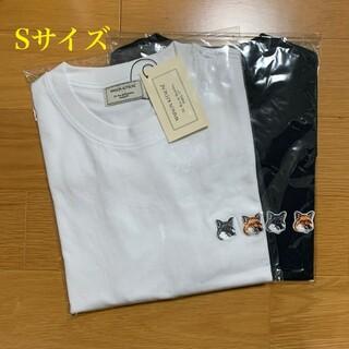 メゾンキツネ(MAISON KITSUNE')のメゾンキツネ ダブルフォックスヘッドパッチ Tシャツ 白黒セット Sサイズ(Tシャツ/カットソー(半袖/袖なし))
