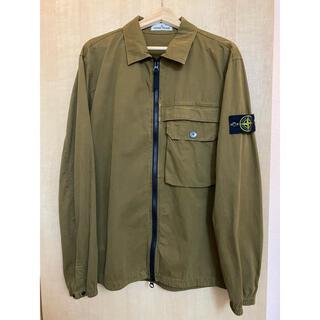 STONE ISLAND - ストーンアイランド パッチ ポケット オーバーサイズ シャツ ジャケット