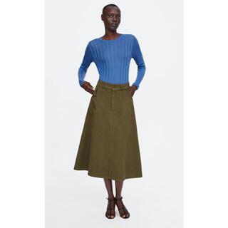 ザラ(ZARA)の新品未使用 ZARA フレア スカート(ひざ丈スカート)