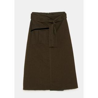 ザラ(ZARA)の新品未使用 ZARA ミディ スカート(ひざ丈スカート)