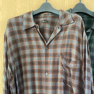 COMOLI - comoli レーヨンチェックオープンカラーシャツ