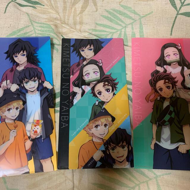 ☆値下げ☆鬼滅の刃 クリアファイル3枚 エンタメ/ホビーのアニメグッズ(クリアファイル)の商品写真