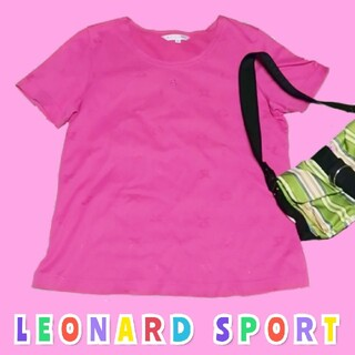 レオナール(LEONARD)の【美品】 LEONARD SPORT レオナール スポーツ Tシャツ ピンク(Tシャツ(半袖/袖なし))