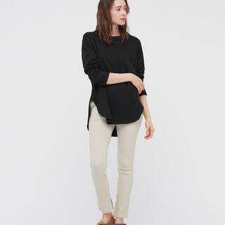 ユニクロ(UNIQLO)のコットンロングシャツテールT 長袖(Tシャツ(長袖/七分))