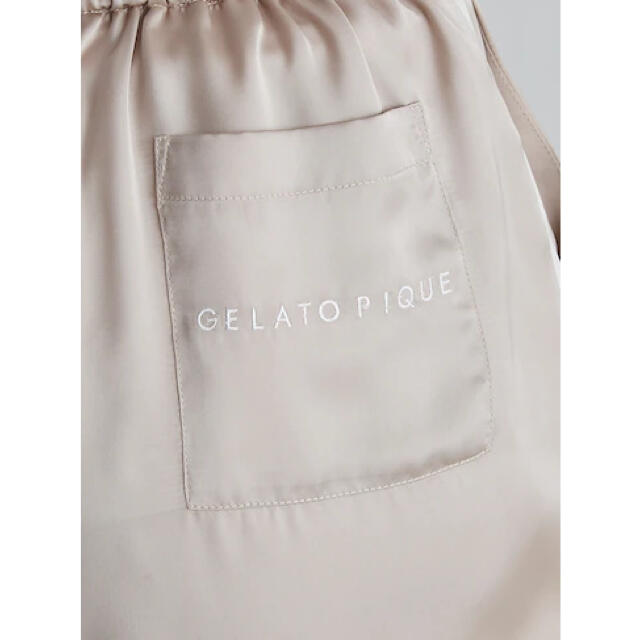 gelato pique(ジェラートピケ)のオンライン完売品❤︎新作❤︎サテンラインシャツ&ショートパンツset レディースのルームウェア/パジャマ(ルームウェア)の商品写真