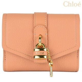 クロエ(Chloe)のChloe ABY 三つ折り財布 新色/ピーチブルーム/ CHC21SP311(財布)