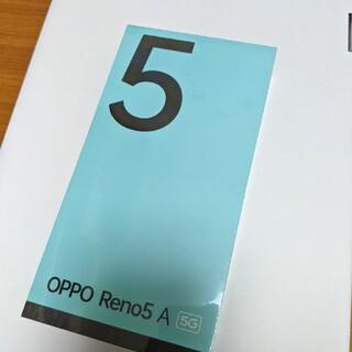 OPPO - OPPO RENO5A 5G simフリー シルバーブラック