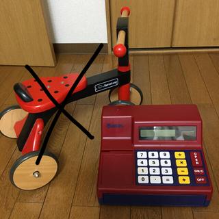 ボーネルンド(BorneLund)のボーネルンド 木製バイク てんとう虫柄 と レジ(知育玩具)