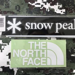 スノーピーク(Snow Peak)の★補強あり★新品未使用 ノースフェイス&スノーピーク  カッティングステッカー白(その他)