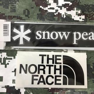 スノーピーク(Snow Peak)の★2枚セット★新品未使用 ノースフェイス&スノーピーク カッティングステッカー黒(その他)