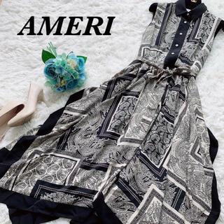 Ameri VINTAGE - 極美品♡希少 アメリ スカーフライクシャツドレス ワンピース ノースリーブ