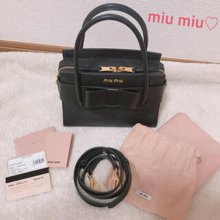 miumiu - 【美品】miumiu♡マドラスフィオッコ♡ハンドバッグ♡リボン
