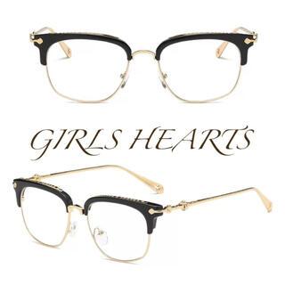 送料無料ブラック黒クロムゴールドクロス十字架メガネ眼鏡めがねクロムハーツ好きに(サングラス/メガネ)