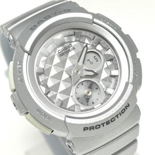 ベビージー(Baby-G)のCASIO BABY-Gスタッズダイアル クォーツ レディースシルバー海外モデル(腕時計)