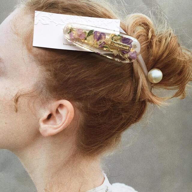 seariry no.874 大人気 flower ヘアクリップ レジン  ハンドメイドのアクセサリー(ヘアアクセサリー)の商品写真