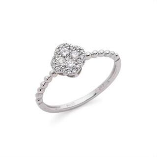 H.P.FRANCE - プラチナ 900  ダイヤモンド リング  0.20カラット