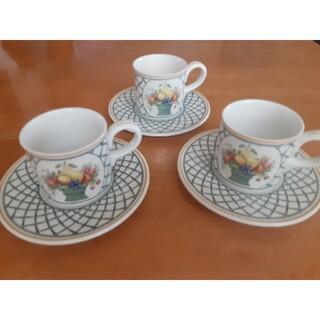 ビレロイアンドボッホ(ビレロイ&ボッホ)のビレロイ&ボッホ ティーカップとソーサー3客セット(食器)