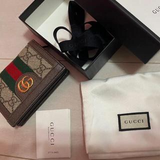 Gucci - GUCCI 美品 人気定番ミニ財布 ウォレット カードケース