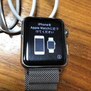 アップルウォッチ(Apple Watch)のApple Watch ステンレス 第一世代 38mm(腕時計(デジタル))