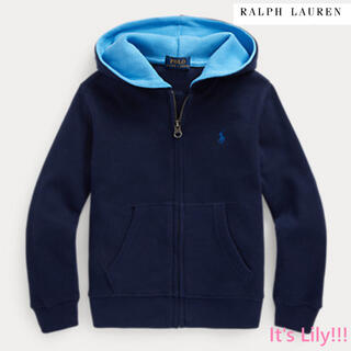 Ralph Lauren - 2t90-95cm 新作 ラルフローレン パーカー ワッフル ポニー 紺