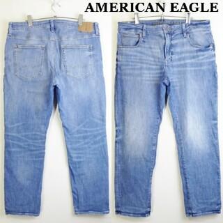 アメリカンイーグル(American Eagle)のアメリカンイーグル スリムストレートデニム W92cm スーパーストレッチ 明青(デニム/ジーンズ)