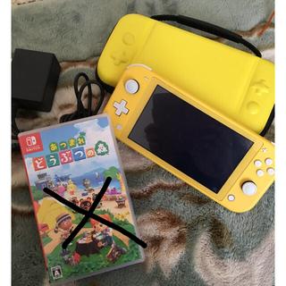 ニンテンドースイッチ(Nintendo Switch)のSwitch light イエロー あつまれどうぶつの森ソフト付き(家庭用ゲーム機本体)
