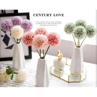 ピンク タンポポ フラワー  マム インテリアかわいい  造花  装飾(ドライフラワー)
