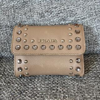 PRADA - プラダ 折財布 ミニ財布  ビジュー スタッズ