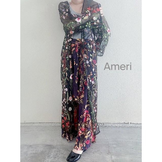 Ameri VINTAGE(アメリヴィンテージ)のAmeri vintage アメリアシースルーガウン レディースのワンピース(ロングワンピース/マキシワンピース)の商品写真