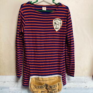 デニムダンガリー(DENIM DUNGAREE)のDENIMDUNGAREE×SNOOPY/エプロン付きカットソー/スヌーピー(Tシャツ/カットソー)