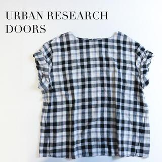 ドアーズ(DOORS / URBAN RESEARCH)のURBAN RESEARCH DOORS✨チェック柄 ロールスリーブ ブラウス(シャツ/ブラウス(半袖/袖なし))