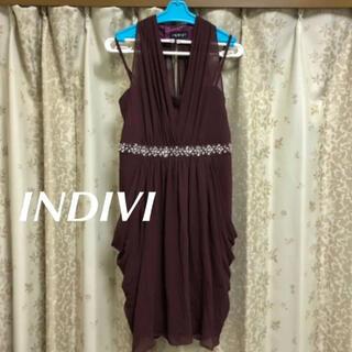 インディヴィ(INDIVI)のINDIVI 結婚式 パーティー ドレス(ミディアムドレス)