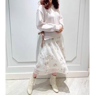 LAISSE PASSE - laissepasse レッセパッセシアー刺繍スカート今季2021ss