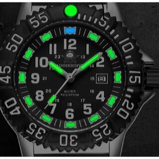 シチズン(CITIZEN)の無反射ブルーコーティング 軍用 ダイバー ルミノバカプセル ADDIESDIVE(腕時計(アナログ))