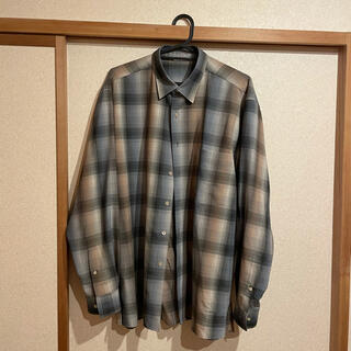 COMOLI - auralee super light wool check shirt